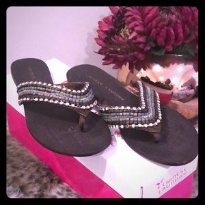 Chinese Laundry Beaded Thong Sandals